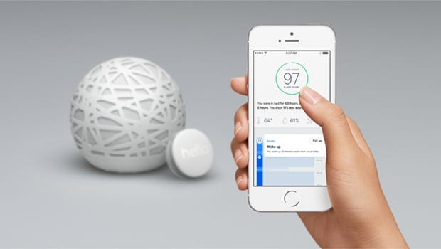 Sense sleep tracker monitors bedroom environment
