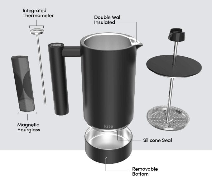 "Rite Press: The ""No Mess"" French Press"